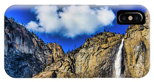 Treeline iPhone Case - Clouds Abover Upper Yosemite Fall by Garry Gay