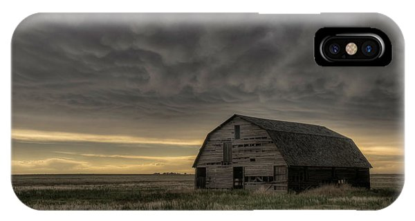 Clouds And Barn IPhone Case
