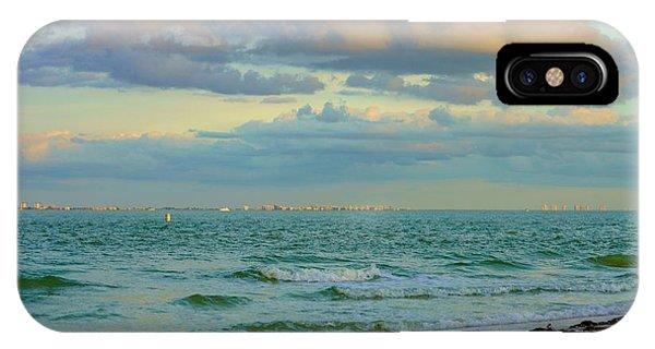 Clouds Over Sanibel Beach IPhone Case