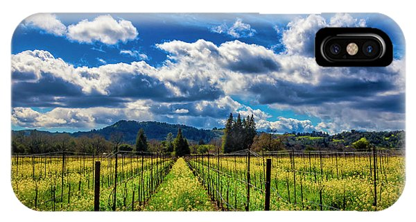 Mustard iPhone Case - Clouds Over Sonoma Vineyards by Garry Gay