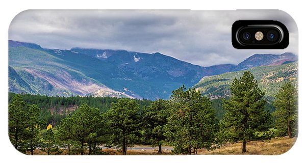 IPhone Case featuring the photograph Clouds Over The Rockies by James L Bartlett