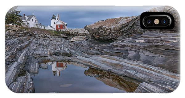 Cloudy Afternoon At Pemaquid Point IPhone Case