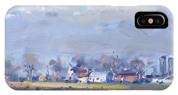 Barn iPhone Case - Cloudy Day At The Farm by Ylli Haruni