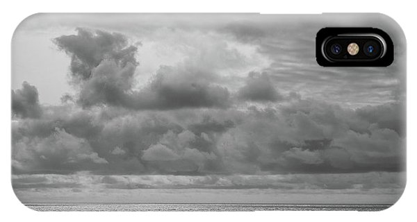 IPhone Case featuring the photograph Cloudy Morning Rough Waves by Steve Stanger