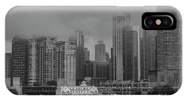 Cloudy Skyline IPhone Case
