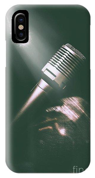 Concert iPhone Case - Club Karaoke by Jorgo Photography - Wall Art Gallery
