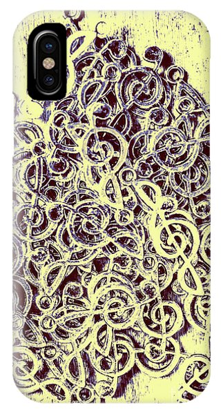 Staff iPhone Case - Club Of Clefs by Jorgo Photography - Wall Art Gallery