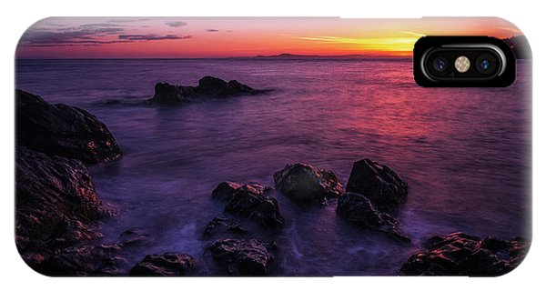 Whidbey iPhone Case - Coastal Last Light On The Rocks by Mike Reid