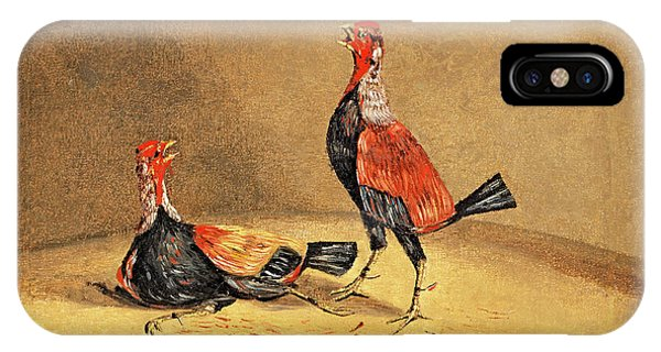 Gamecocks iPhone Case - Cockfighting 1 by Henry Thomas Alken