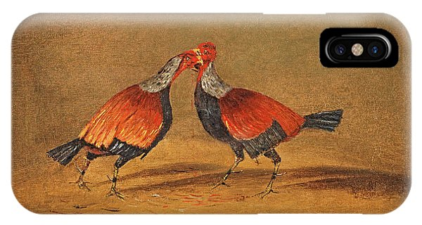 Gamecocks iPhone Case - Cockfighting 2 by Henry Thomas Alken