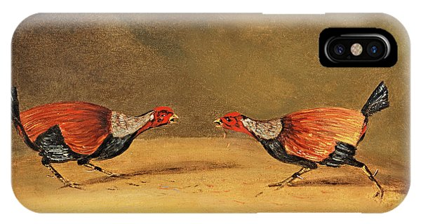 Gamecocks iPhone Case - Cockfighting by Henry Thomas Alken