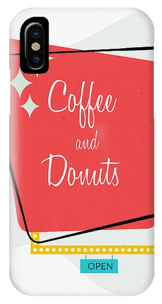 Kitchen iPhone Case - Coffee And Donuts- Art By Linda Woods by Linda Woods