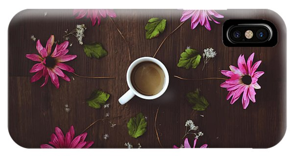 Coffee And Flowers IPhone Case
