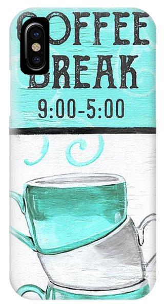 Cafe iPhone Case - Coffee Break by Debbie DeWitt