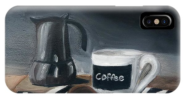 IPhone Case featuring the painting Coffee Time by Fe Jones