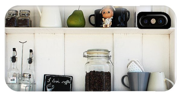 Object iPhone Case - Coffee White Shelves On A White by Thesnake19