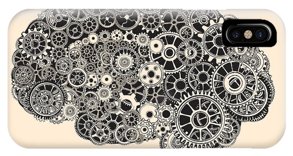 Brain iPhone Case - Cogs In The Shape Of A Human Brain by Ryger