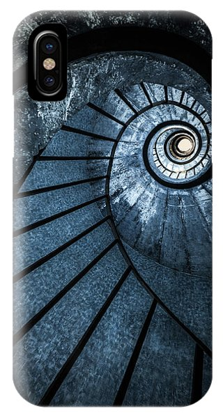 iPhone Case - Cold Blue Staircase by Jaroslaw Blaminsky
