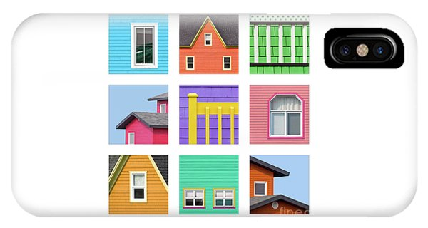 iPhone Case - Collage Of Details Of The Colourful Houses Of The Magdalen Islan by Jane Rix
