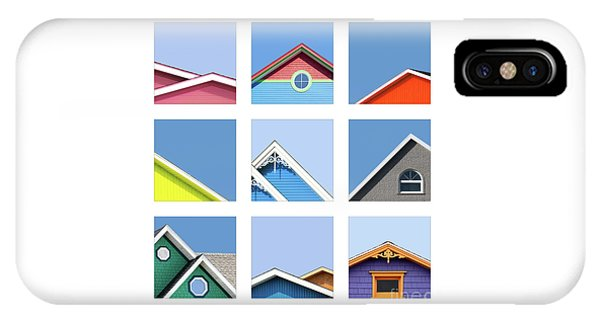 iPhone Case - Collage Of The Rooftops Of The Magdalen Islands by Jane Rix