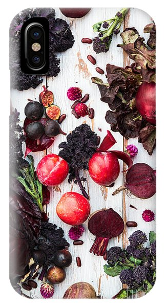 Mixed iPhone Case - Collection Of Fresh Purple Fruits And by Anna Mente