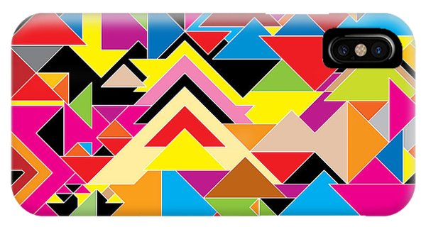 Triangles iPhone Case - Color Abstract by Axmbacking