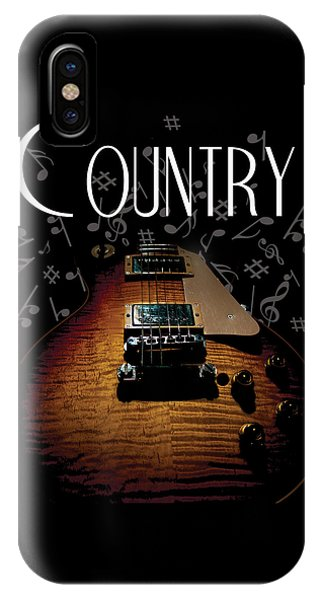 Color Country Music Guitar Notes IPhone Case