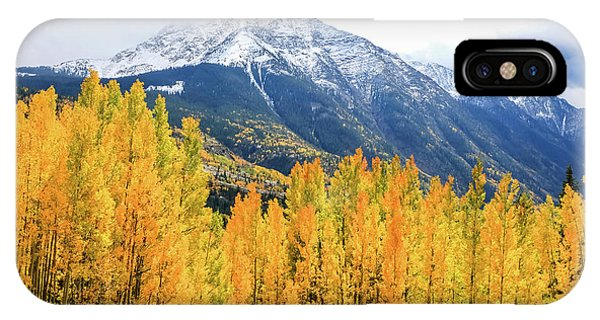 Colorado Aspens And Mountains 2 IPhone Case