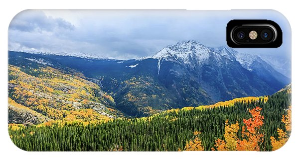 Colorado Aspens And Mountains 3 IPhone Case