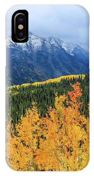 Colorado Aspens And Mountains 4 IPhone Case
