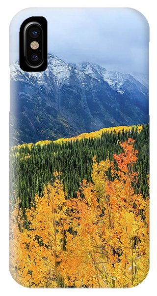 Colorado Aspens And Mountains 4 IPhone Case