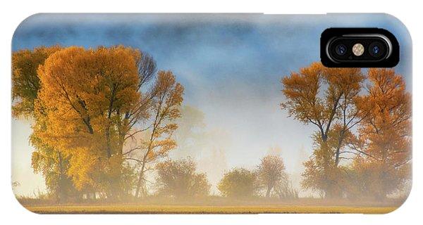 IPhone Case featuring the photograph Colorado Autumn Fog by John De Bord