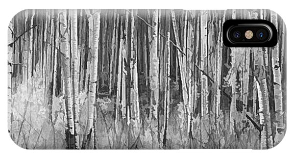IPhone Case featuring the photograph Colorado Autumn Wonder Panorama In Black And White  by OLena Art Brand
