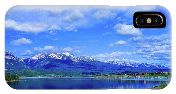 Colorado Mountains Behind Lake Dillon IPhone Case