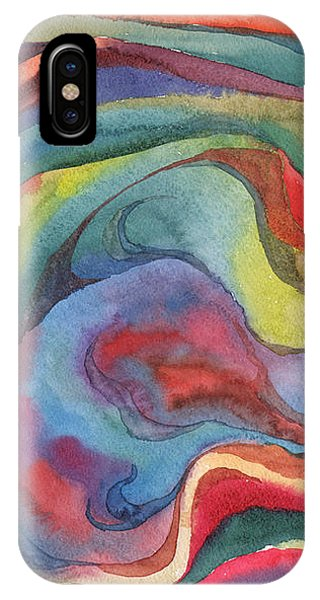IPhone Case featuring the painting Colorful Abstract Palette 2 by Dobrotsvet Art