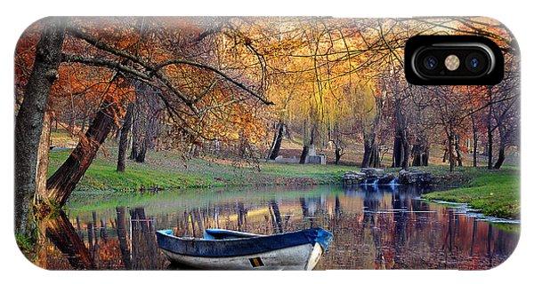 Mottled iPhone Case - Colorful Autumn Landscape.nature by Iancu Cristian