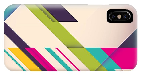 Futuristic iPhone Case - Colorful Background With Designed by Radoman Durkovic