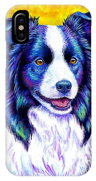 Colorful Border Collie Dog IPhone Case