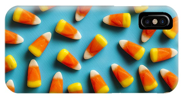 Tasty iPhone Case - Colorful Candy Corn For Halloween On A by Brent Hofacker