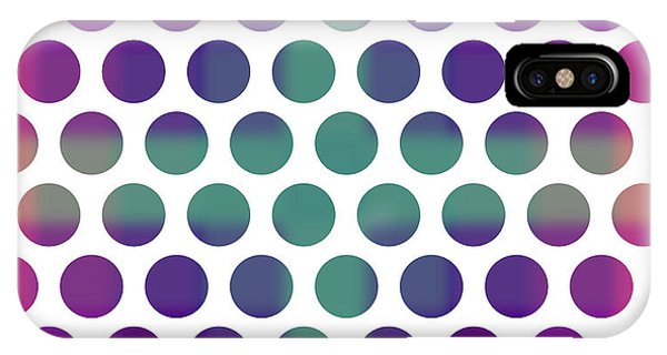 Violet iPhone Case - Colorful Dots Pattern - Polka Dots - Pattern Design 4 - Violet, Purple, Indigo by Studio Grafiikka