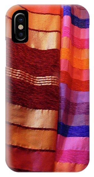 Colorful Fabrics In The Medina Market  IPhone Case