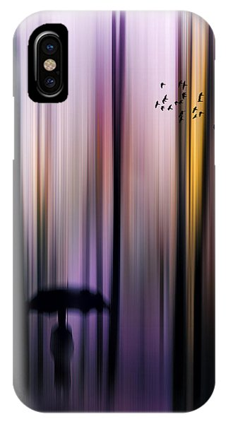 Purple Rain iPhone Case - Colorful Forest Walk by Tim Palmer