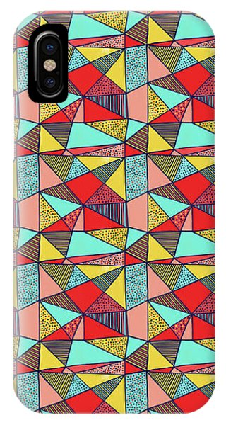 Colorful Geometric Abstract Pattern IPhone Case