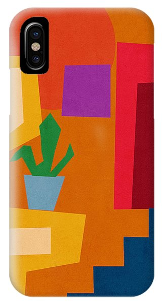 Funky iPhone Case - Colorful Geometric House 1- Art By Linda Woods by Linda Woods