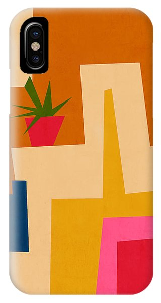 Funky iPhone Case - Colorful Geometric House 2- Art By Linda Woods by Linda Woods