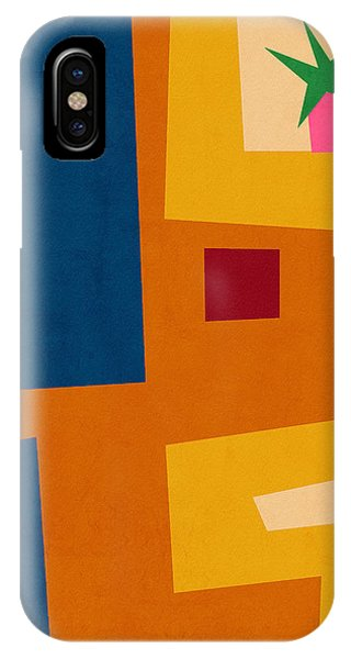 Funky iPhone Case - Colorful Geometric House 3- Art By Linda Woods by Linda Woods