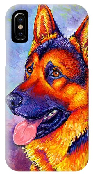 Colorful German Shepherd Dog IPhone Case
