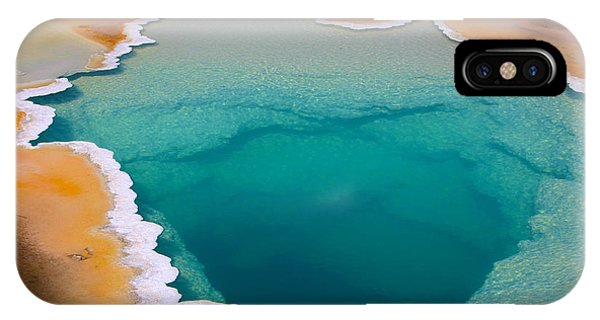 Clear iPhone Case - Colorful Geyser In Yellowstone National by Csnafzger