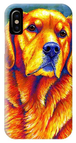 Colorful Golden Retriever Dog IPhone Case