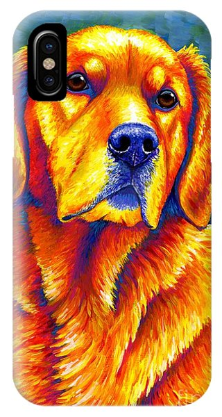 Colorful Golden Retriever Dog IPhone Case